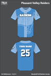 Pleasant Valley Raiders Full Button Baseball Jersey - WajBJA