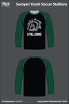 Saroyan Youth Soccer Stallions Long-Sleeve Performance Shirt - HykDHG