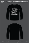 Saroyan Youth Soccer Stallions Long-Sleeve Performance Shirt - Zyp2Qt
