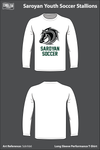 Saroyan Youth Soccer Stallions Long-Sleeve Performance Shirt - Sdnhb6