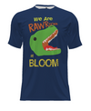 Bloom Creative Arts Dino Short-Sleeve Performance Shirt - Dark Blue