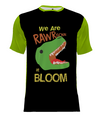 Bloom Creative Arts Dino Short-Sleeve Performance Shirt - Black/Green