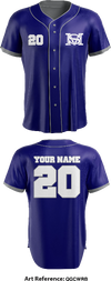 Shawnee Mission Blues Full Button Baseball Jersey - qGcWrb