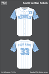 South Central Rebels Full Button Baseball Jersey - TzRQRa