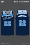 South Central Rebels Men's Basketball Jersey - M8Cv6z