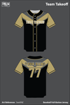 Team Takeoff Full Button Baseball Jersey - 5weVNZ