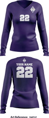 Tempo Volleyball Club Women's Long Sleeve Volleyball Jersey - 7HzTV7