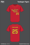 Tuskegee Parks and Recreation Two Button Softball Jersey - 2QfwL6