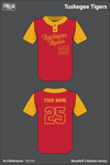 Tuskegee Parks and Recreation Two Button Softball Jersey - XAsTtk