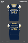 USA Raiders Football Jersey - V8Brkkz