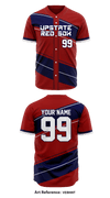 Upstate Red Sox Store 1 Wholesale Full Button Baseball Jersey - VebHnt