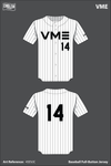 Veterans in Media & Entertainment Full Button Baseball Jersey - 45EVJC