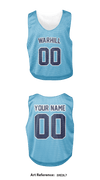 Warhill HS Lacrosse Team Store 1 Men's Reversible Lacrosse Pinnie - Collegiate Cut-3Xe3L7