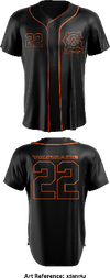 Warren County Wolfpack - Full Button Baseball Jersey - XSmVRj