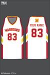 Westerville North Warriors Men's Reversible Basketball Jersey - pGcWFU & 8PMCze