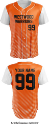 Westwood Warriors Full Button Baseball Jersey - sc7eqw