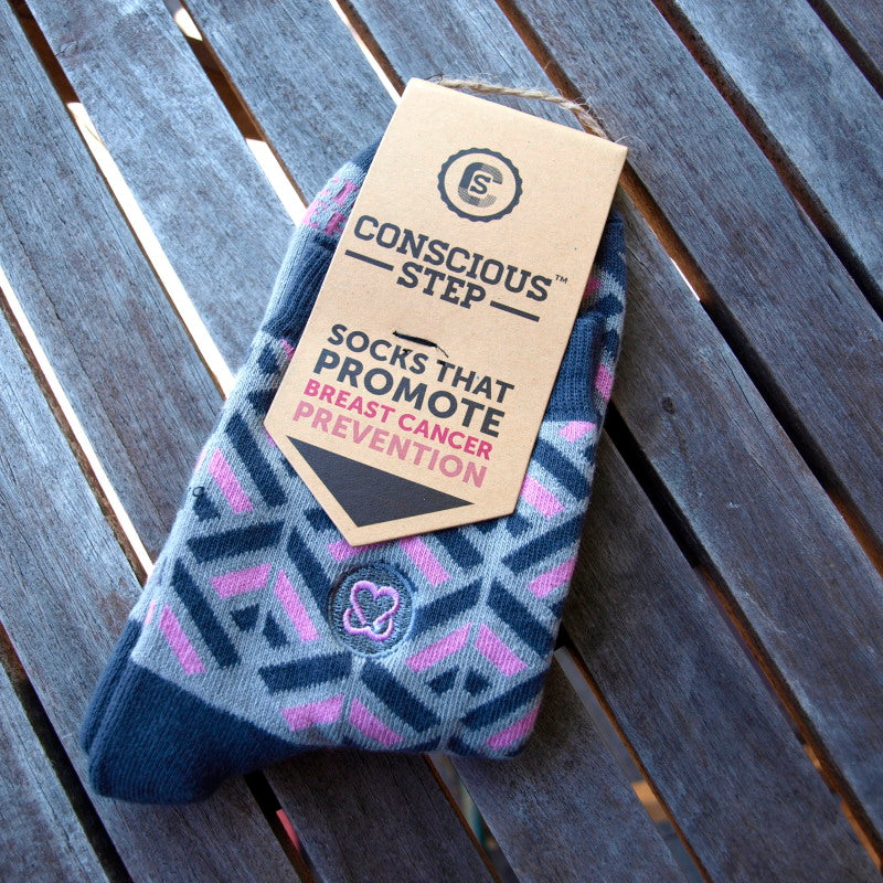 conscious step fairtrade socks  breast cancer prevention