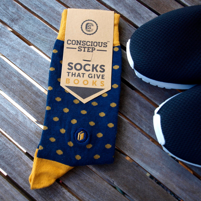 conscious step fairtrade socks that give books