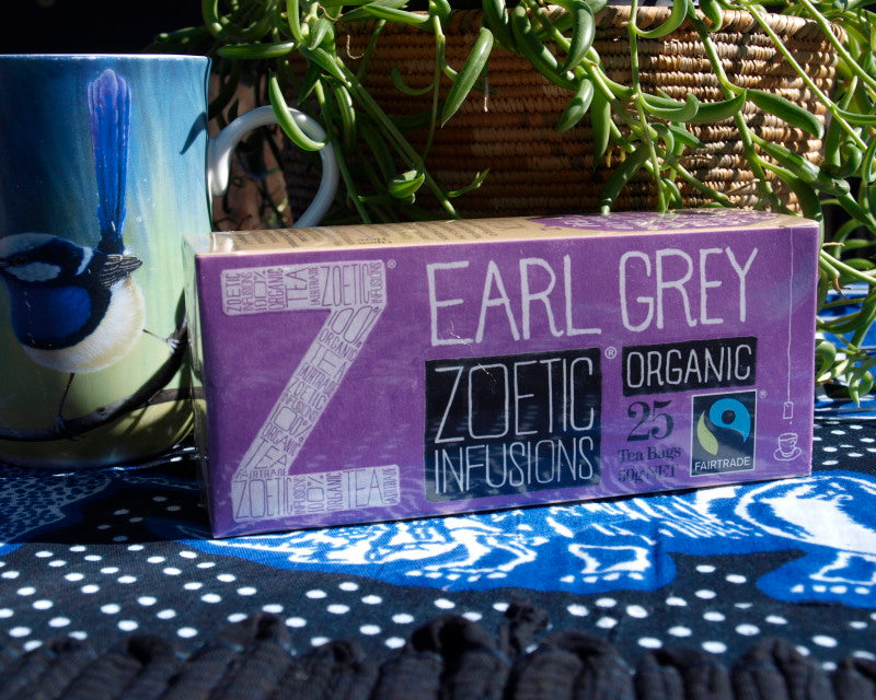 Earl Grey Organic  Fairtrade tea 25 tagged teas