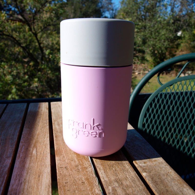 Frank Green payWave coffee cup powder pink