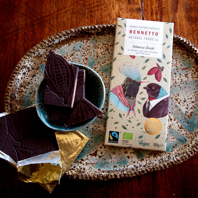 Bennetto Fairtrade dark chocolate 100g Intense Dark