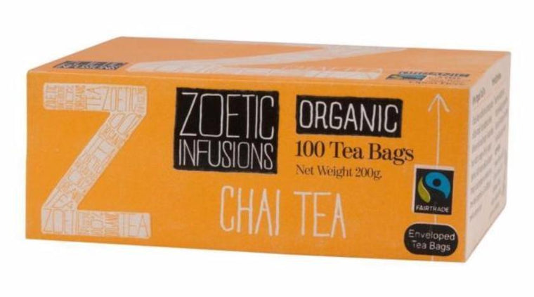 Zoetic Chai tea Organic & Fairtrade 100 sachets