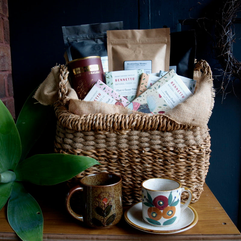 Fairtrade coffee and chocolate hamper family time