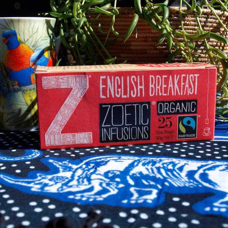 English Breakfast Organic Fairtrade tagged tea