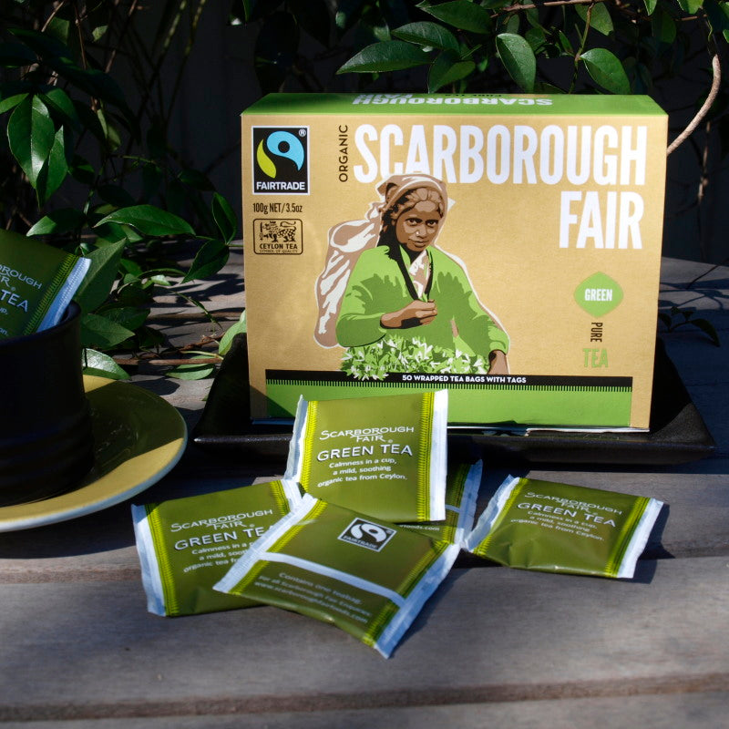 Scarborough Fair Fairtrade Green Tea x 50 envelopes