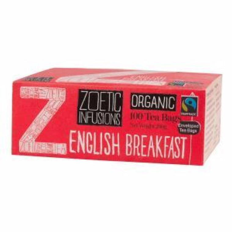 Zoetic Infusions English Breakfast Organic  & Fairtrade enveloped tea 100
