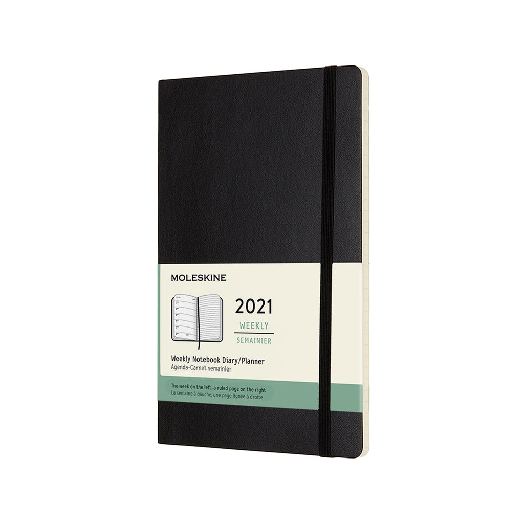 MOLESKINE 12 Month Large Size Weekly Planner Soft Cover Black