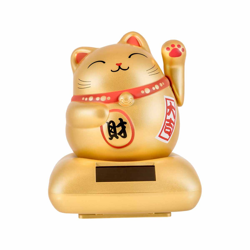 Solar Lucky Cat Chubby - Gold