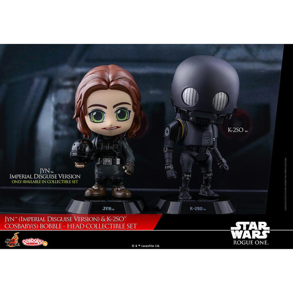 Hot Toys Jyn (Imperial Disguise Version) & K-2SO COSBABY (S) Bobble-Head Collectible Set