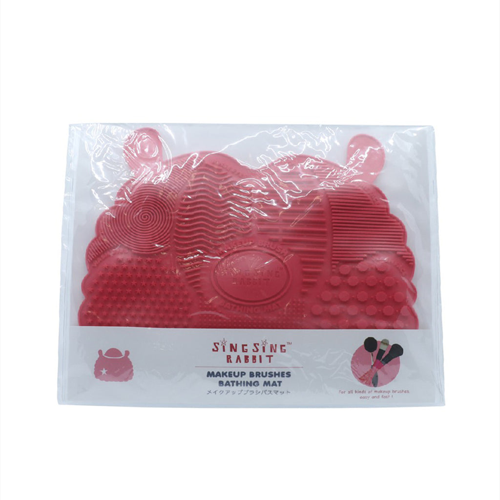 Singsingrabbit Makeup Brush Mat (Red)