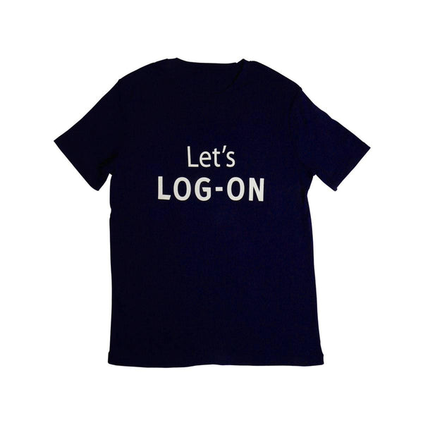 LET'S LOG-ON Logo T-shirt-NAVY