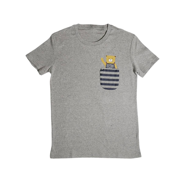 MANUAL FACTORY Bear Pocket T-shirt