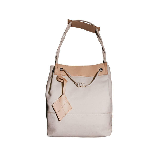 LOG-ON Design Award Urban Preppy Drawstring Bag-LIGHT BEIGE