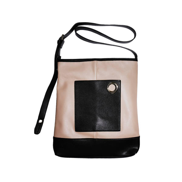 LOG-ON Design Award Folder Shoulder Bag-BLACK/BEIGE