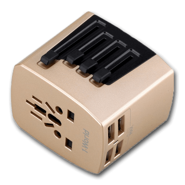 Momax 1-World 4USB AC Travel Adaptor