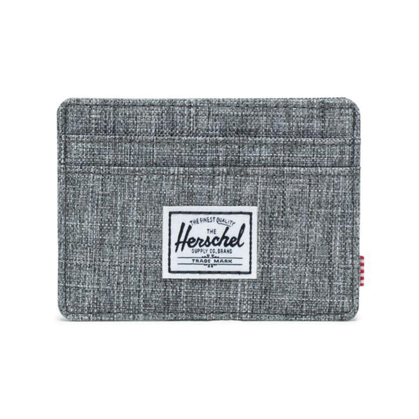 HERSCHEL Charlie RFID Card Case-Raven Crosshatch