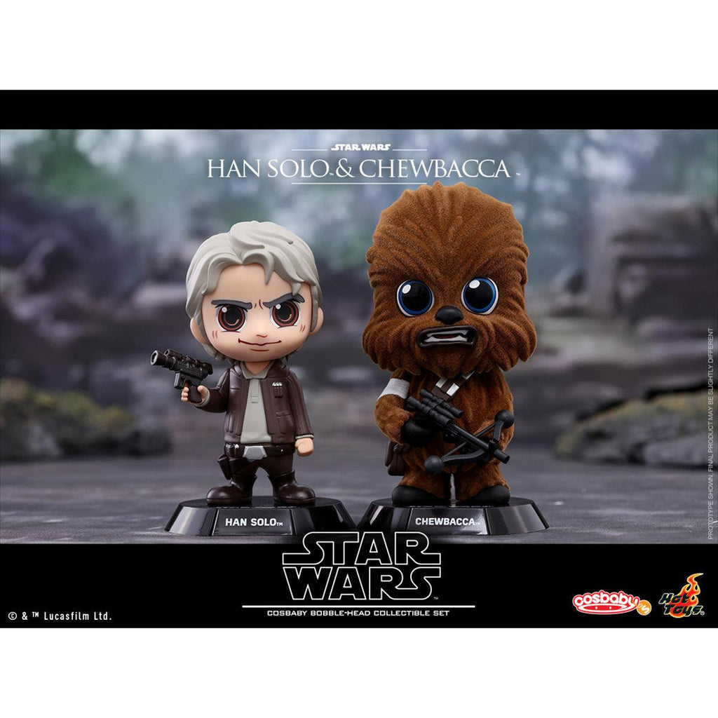Hot Toys Han Solo & Chewbacca COSBABY (S) Bobble-Head Collectible Set
