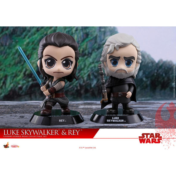 Hot Toys Rey & Luke Skywalker COSBABY (S) Bobble-Head Collectible Set