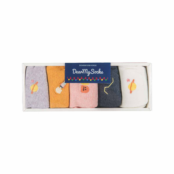 Dear My Universe - Pastel Sock Gift Set (5 pairs)