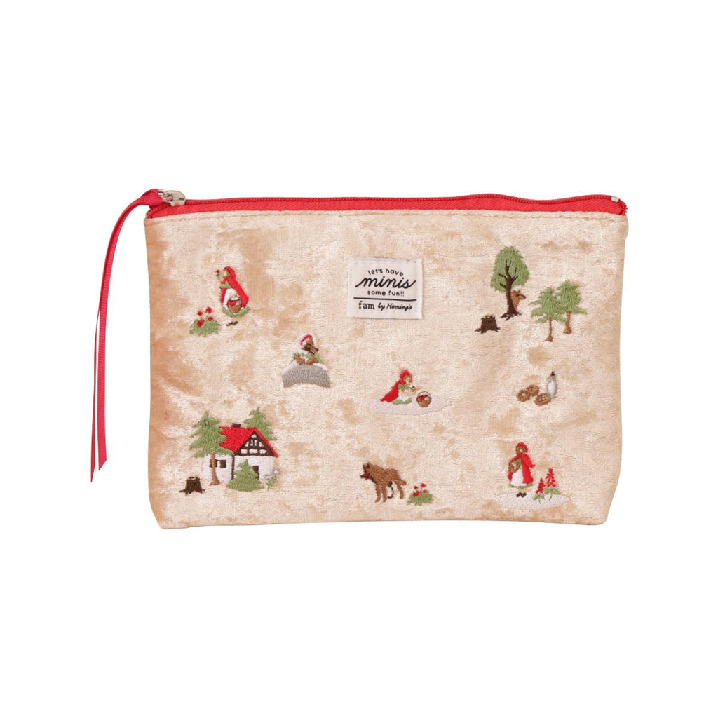 Hemings Embroidery Pouch-LITTLE RED HOOD