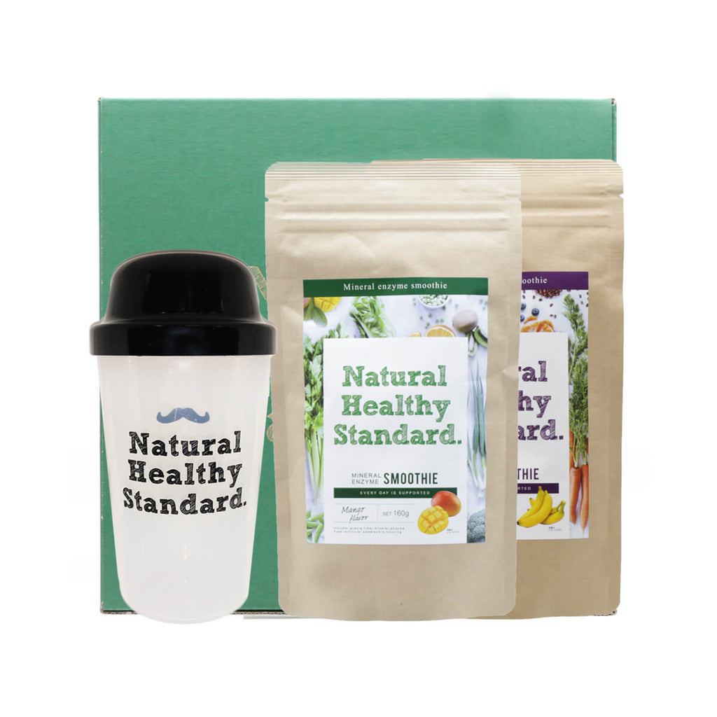 Natural Healthy Standard Mineral Enzyme Smoothie Set Mango+Banana - Discontinued