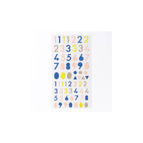 Iroha Toy Album Decoration Sticker - Number