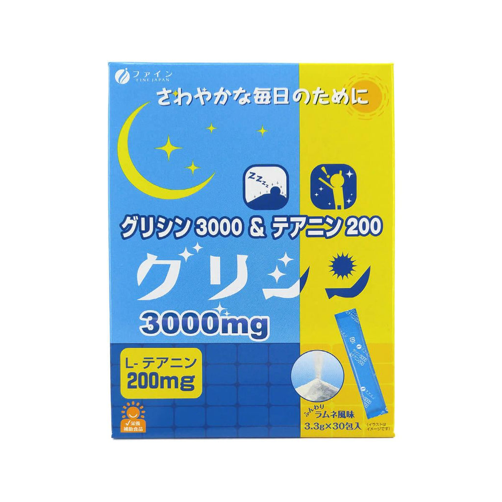 Finejapan Glycine 3000 and Theanine 200 Lemonade 30packs