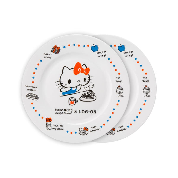 "Hello Kitty Ceramic Plate 8"" 2 Pieces Set"