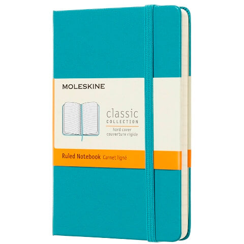 Moleskine Ruled Hard Notebook P Reef Blue