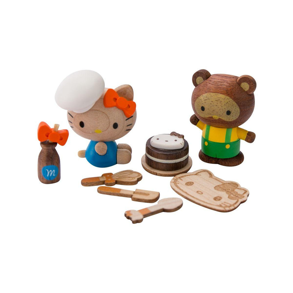 Wooderful Hello Kitty & Tracy DIY Figure Set